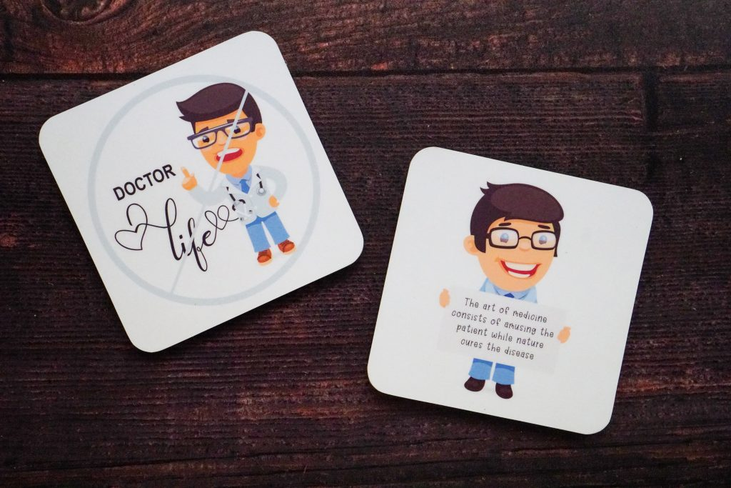 Customized coaster for a make doctor